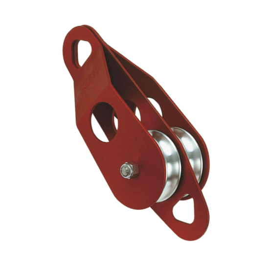6125 - 3 Inch Double Sheave Pulley with Becket - Oilite Bushing