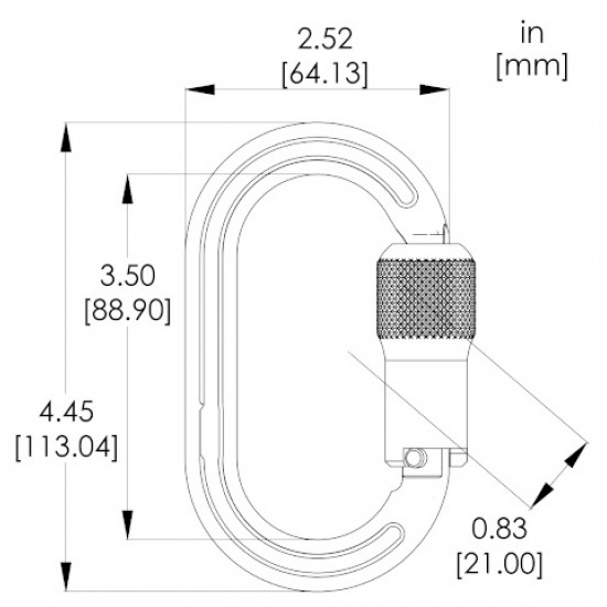 1393 Yates Twistlock ANSI Oval Carabiner