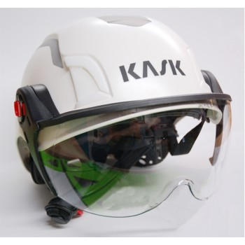 7009W KASK Zenith E-Rated Helmet - White with Reflective.