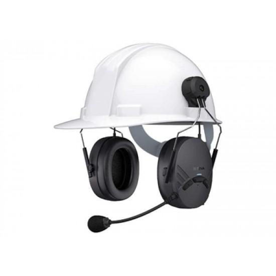 Tufftalk Lite Hard Hat Mounted Earmuff System w/Kask Zenith Helmet