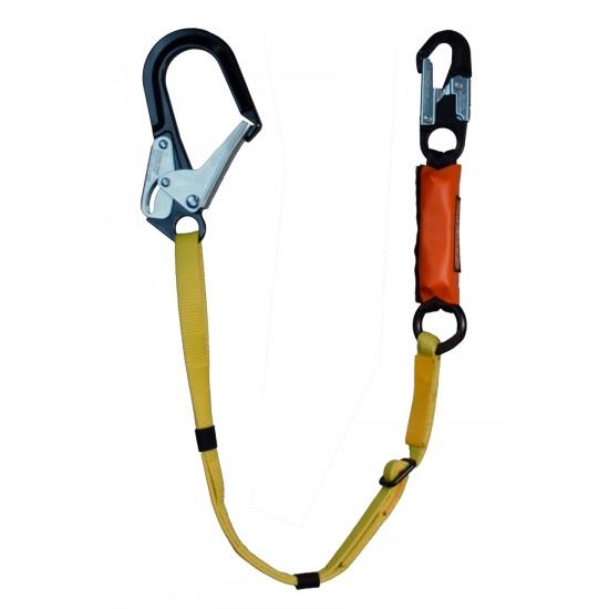 "827-12 Adjustable w/6-12 ft. Free Fall SA Lanyard - 2 1/2"" Aluminum Ladder Hook"