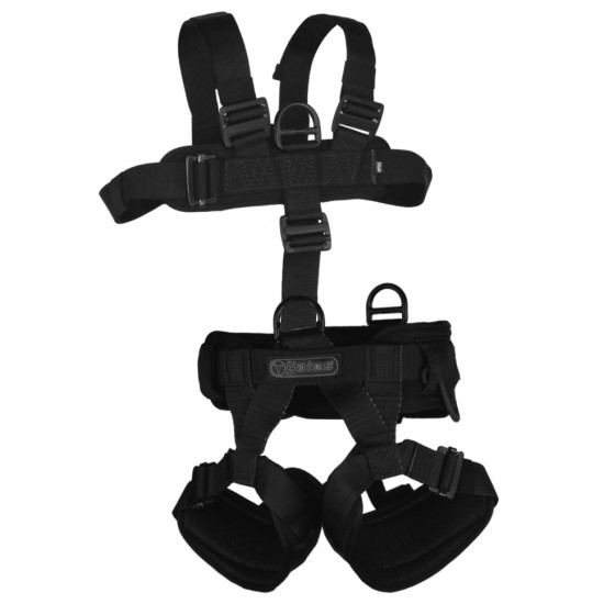 352B Padded Lightweight Assault Full Body Harness with rear waist pad D ring. (Sizes S-XL)
